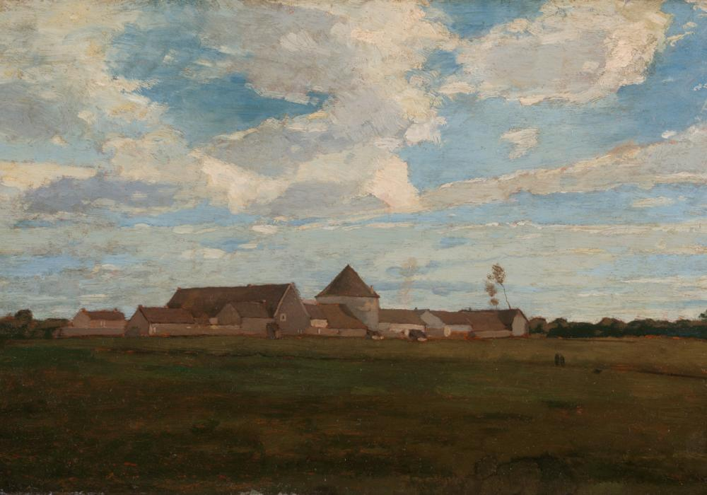 Winslow Homer, Cerney-La-Ville-French Farm, 1867. Oil on panel. Gift of Merle J. and Emily N. Trees 1940-1-3