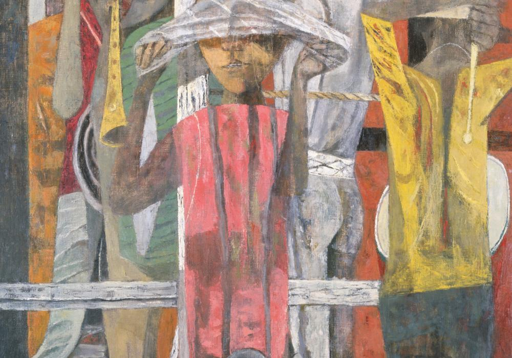 Philip Guston, The Porch, 1946-1947. Oil on canvas. University of Illinois purchase through the Festival of Arts Purchase Fund 1948-10-1