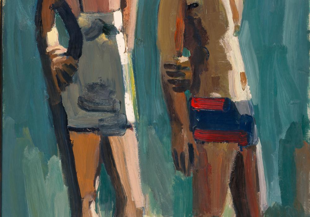 David Park, Standing Couple, 1958. Oil on canvas. Festival of Arts Purchase Fund 1961-11-1