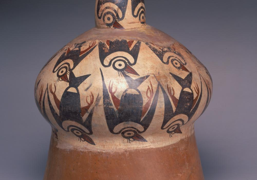 Ceremonial drum, ca. 100 BCE, Peru, Nasca. Terracotta, polychrome slip. Gift of Fred Olsen and the Art Acquisition Fund 1967-29-110