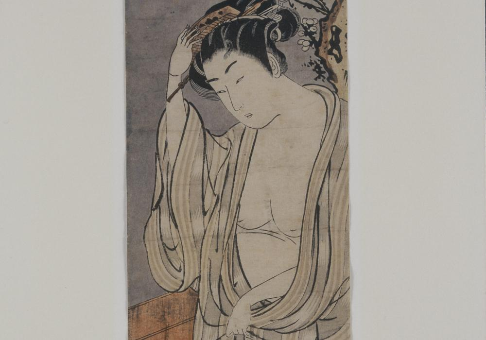 Isoda Koryusai, A Standing Courtesan, 1775. Work on paper. Gift of the Class of 1908 1974-15-1