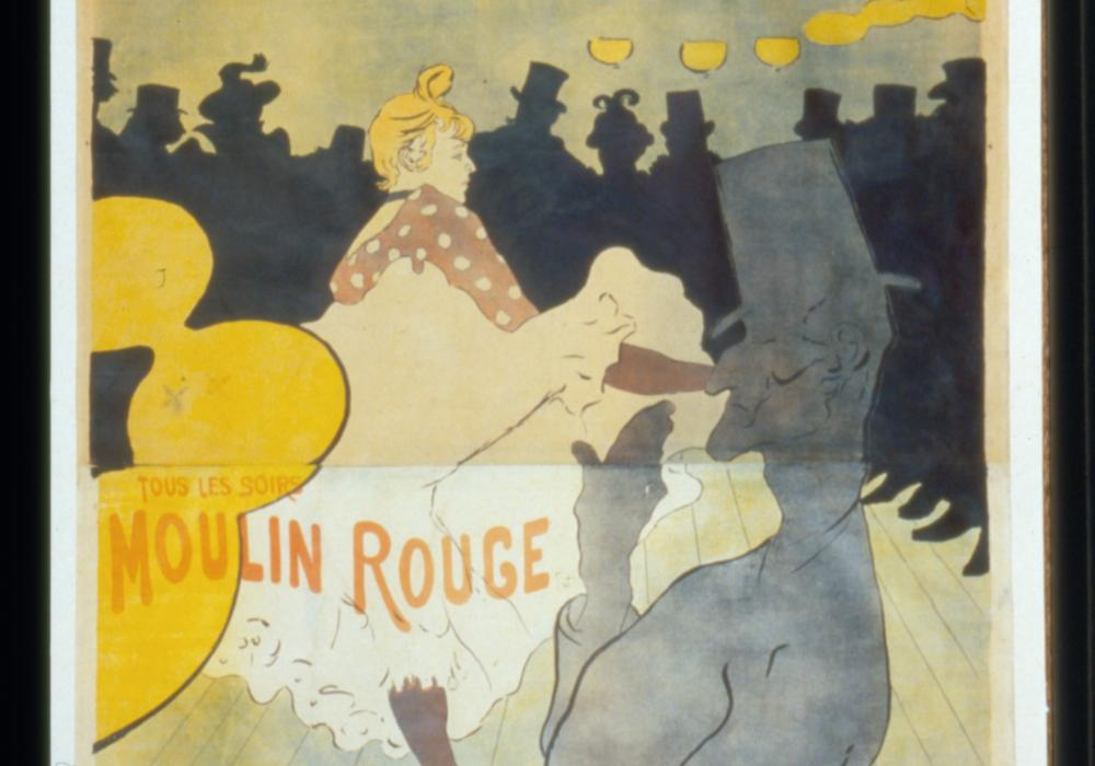 Henri de Toulouse-Lautrec (France, 1864–1901), Moulin Rouge-La Goulue, 1891. Lithograph. Board of Trustees of the University of Illinois on behalf of its Krannert Art Museum, Gift of William S. Kinkead 1975-11-5