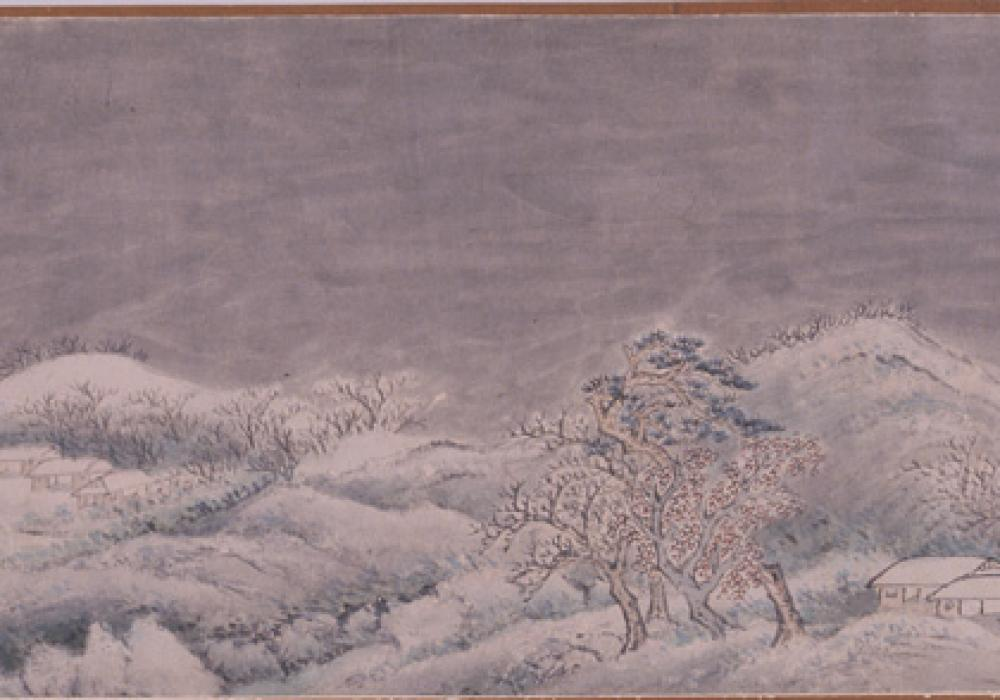 Homecoming Boat on a Wintry River, ca 1620. Chen Lian. China, active Ming dynasty, 1368-1644. Gift of Class of 1908 1976-14-1