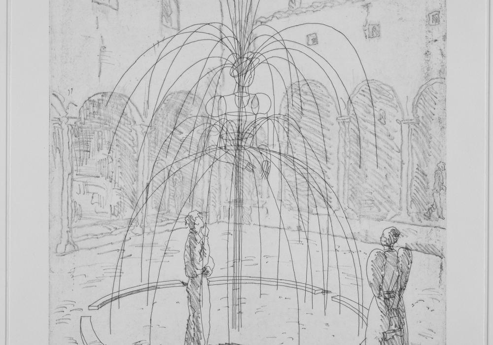 Ilya Iosifovich Kobakov. Woman as Fountain: Courtyard Sculpture Project, 1998. Etching. Sheldon Good Family Charitable Foundation 2000-9-1