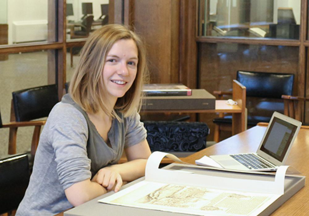 Anne Gaëlle Churin, a student at the École du Louvre in Paris, spent the fall semester 2015 studying at the University of Illinois and held an Art History internship at Krannert Art Museum under the supervision of KAM's Curator of European and American Ar