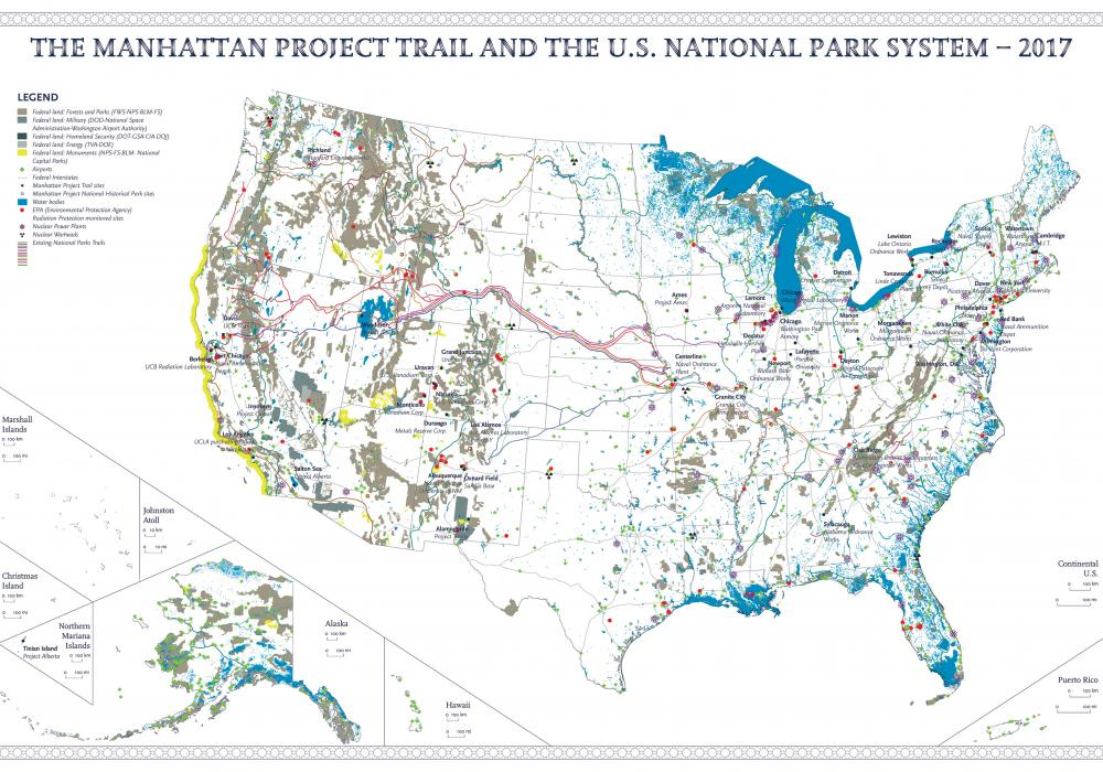 Ludovico Centis, The Manhattan Project Trail and the US National Park System–2017. Digital print on paper. Courtesy of the artist/The Empire ©️ Ludovico Centis
