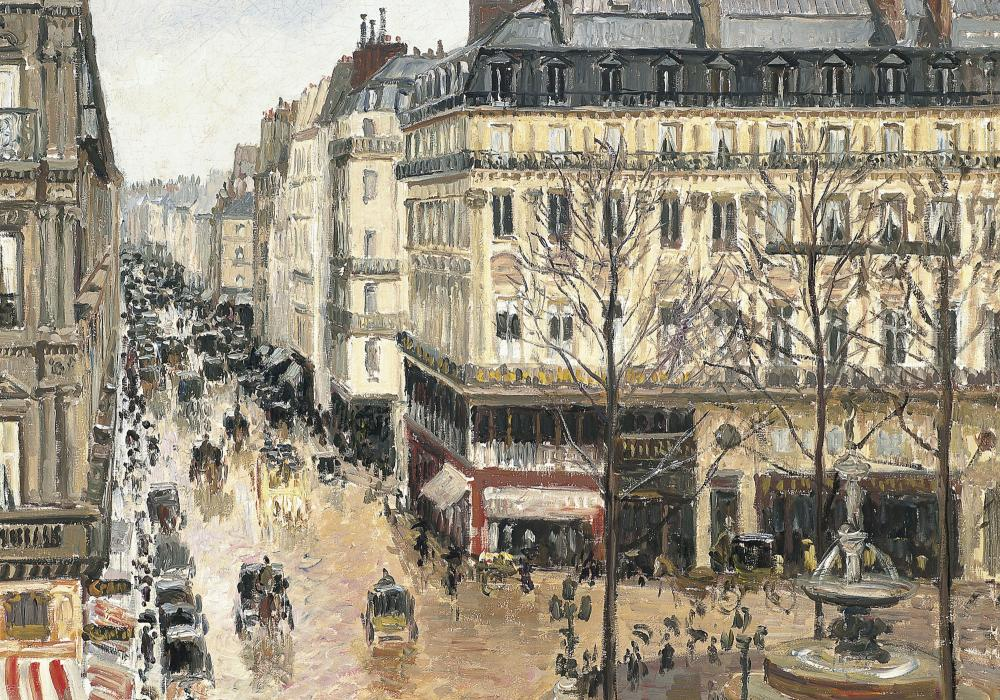 Camille Pissarro, Rue Saint-Honoré in the Afternoon. Effect of Rain, 1897, Museo Thyssen-Bornemisza, Madrid.