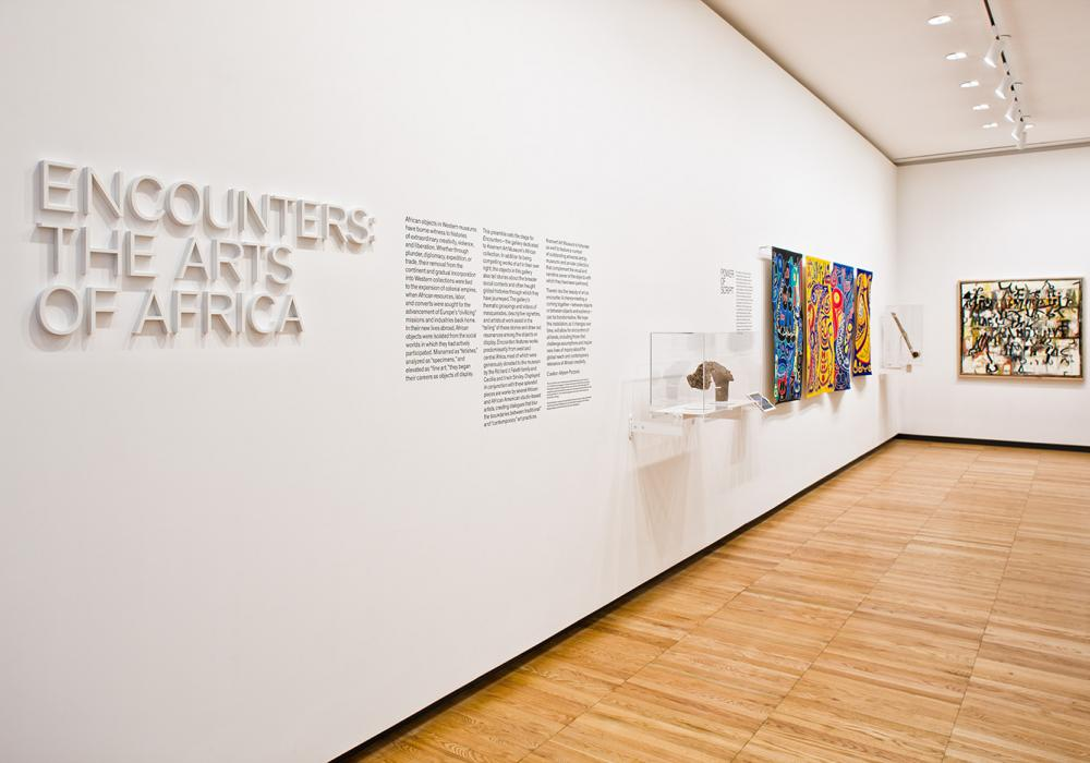 Encounters: The Arts of Africa, installation view, 2012. Curated by Allyson Purpura. Photo by Chris Brown.
