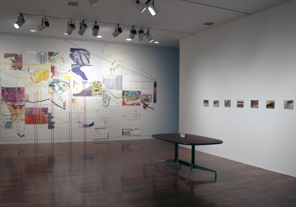 2010 School of Art + Design Faculty Exhibition, installation at Krannert Art Museum, 2010.