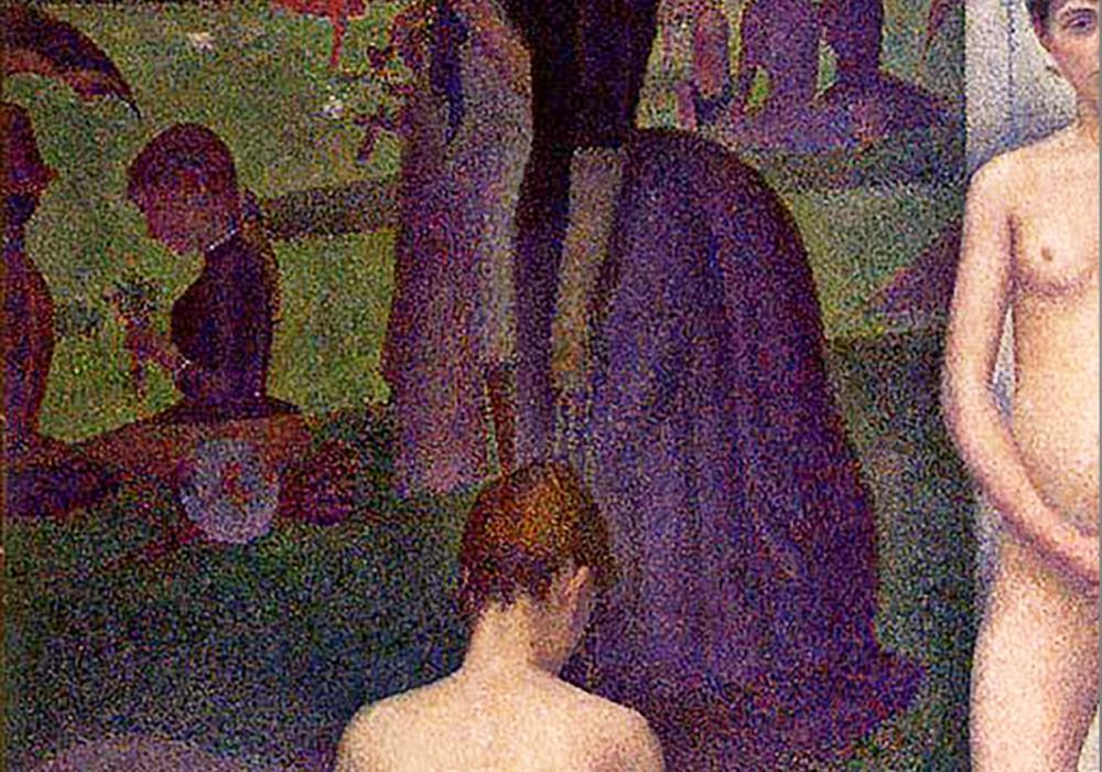 Georges Seurat, The Models (detail), 1888.
