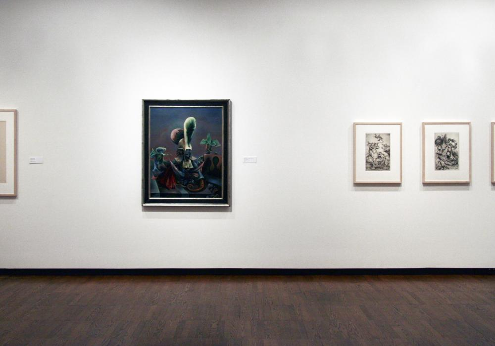 Surrealism and Its Influence, installation at Krannert Art Museum, 2013.