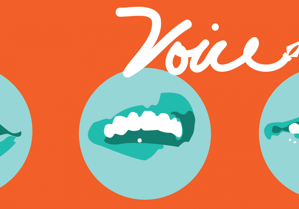 VOICE Reading Series at Krannert Art Museum. Design: Veronica Pham, 2014.