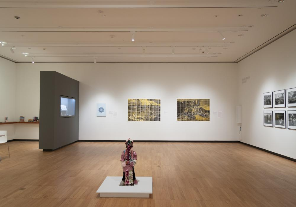 Hot Spots: Radioactivity and the Landscape, installation view at Krannert Art Museum, University of Illinois, 2019. Photo by Julia Nucci Kelly