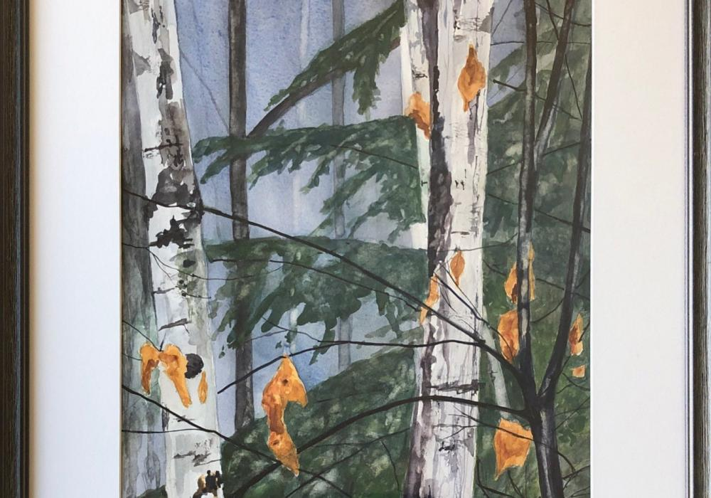 Sandra Batzli, Out the Window. Watercolor, 24.5 in. x 19.5 in. Courtesy of the artist.
