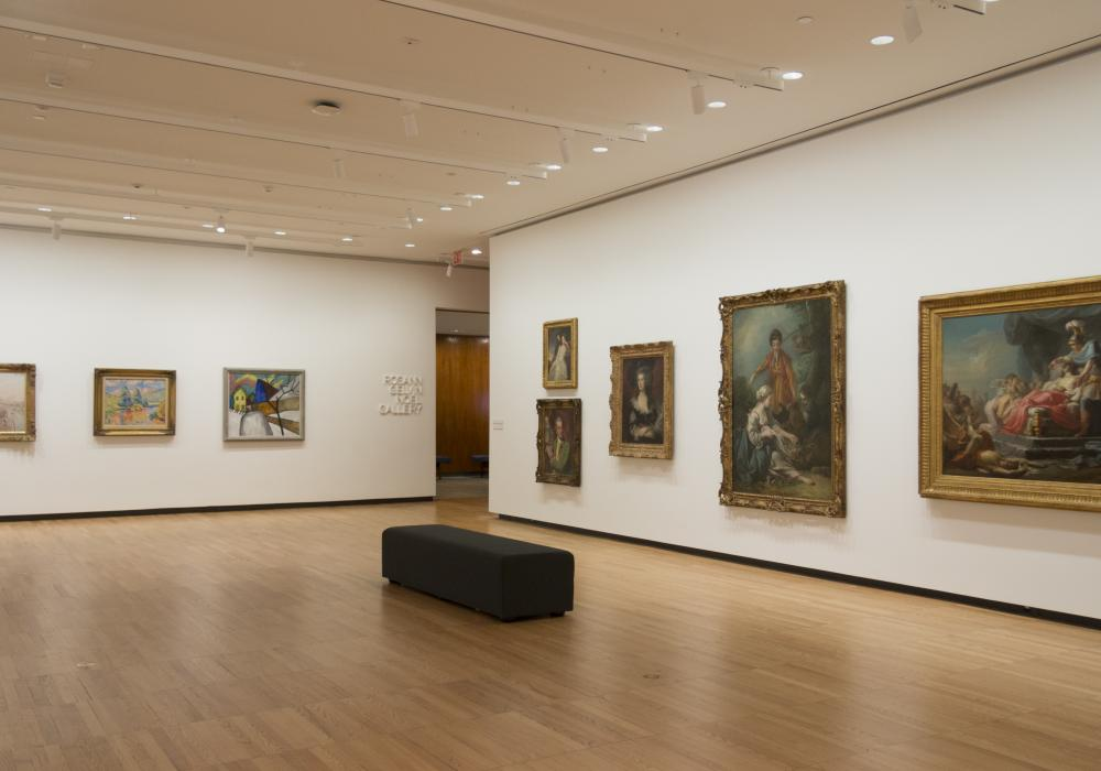European and American Painting: Selections from the KAM Collection, installation at Krannert Art Museum, 2019.