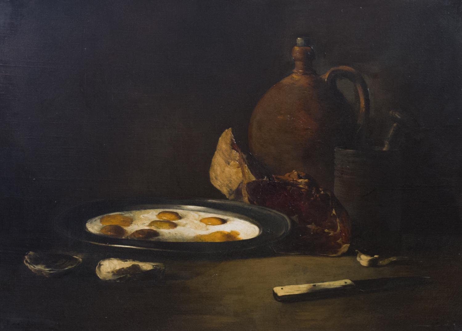 Théodule Ribot (French, 1823–1891), Kitchen Still Life, 19th century.