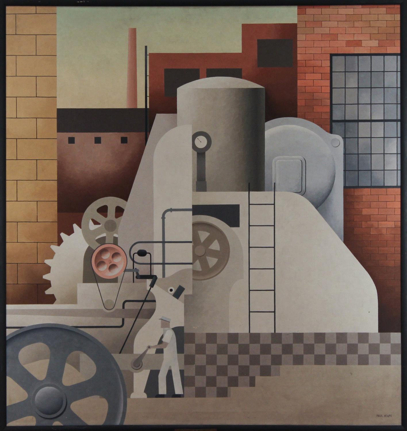 Paul Kelpe, Man and Machines (Abstraction #5), 1934. Oil, canvas. Commissioned through the New Deal art projects 1943-4-209