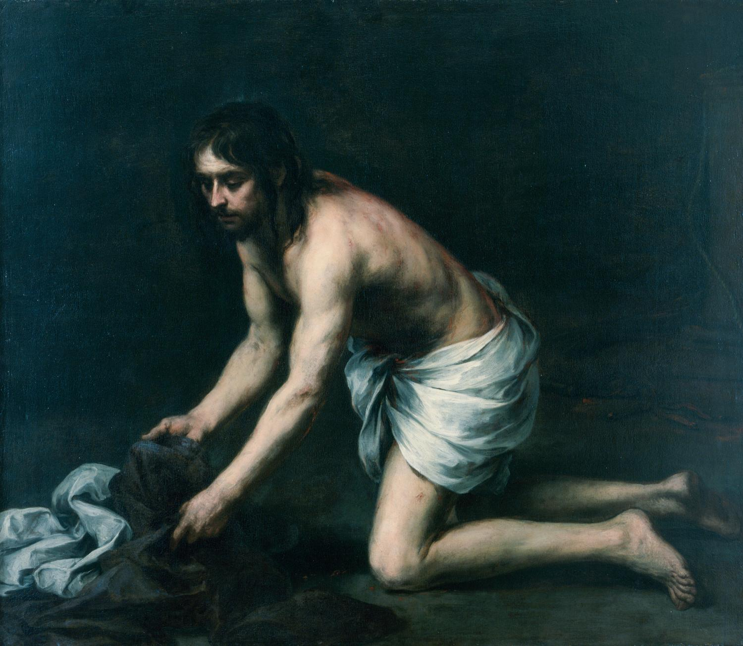 Bartolomé Esteban Murillo, Christ after the Flagellation, ca. 1670. Oil on canvas. Gift of Ellnora D. Krannert 1960-4-1