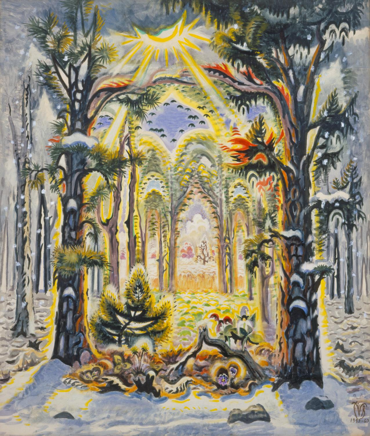 Charles Burchfield. The Four Seasons, 1949–1960. Watercolor. Festival of Arts Purchase Fund 1961-2-1