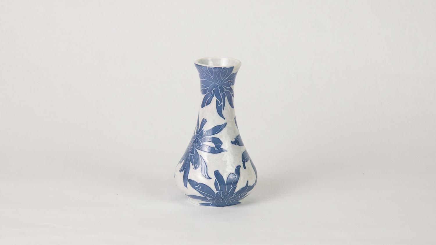 Gunnar Wennerberg for Gustavsberg Porcelain, vase, 1902, ceramic, 1980-4-16, Gift of Department of Ceramic Engineering, UIUC, C.W. Parmelee Collection