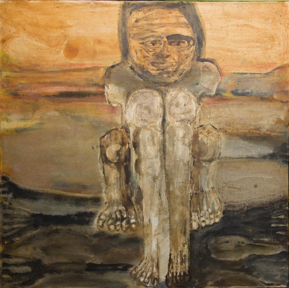 Leon Golub, The Sphinx, 1954. Oil on canvas. Bequest of William S. Kinkead 1983-6-1