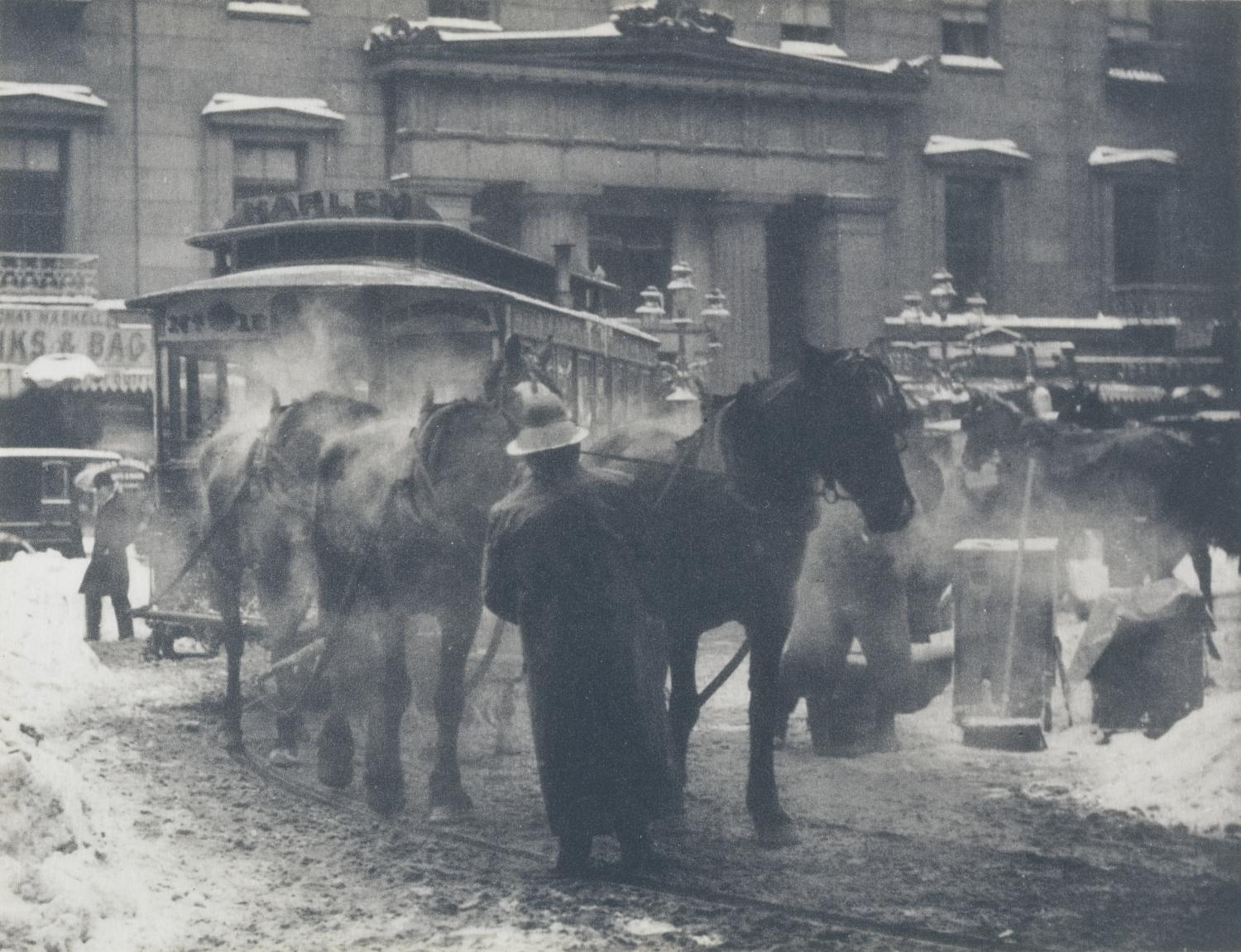 Alfred Stieglitz, The Terminal, 1893. Photogravure. Art Acquisition Fund 1990-3-1