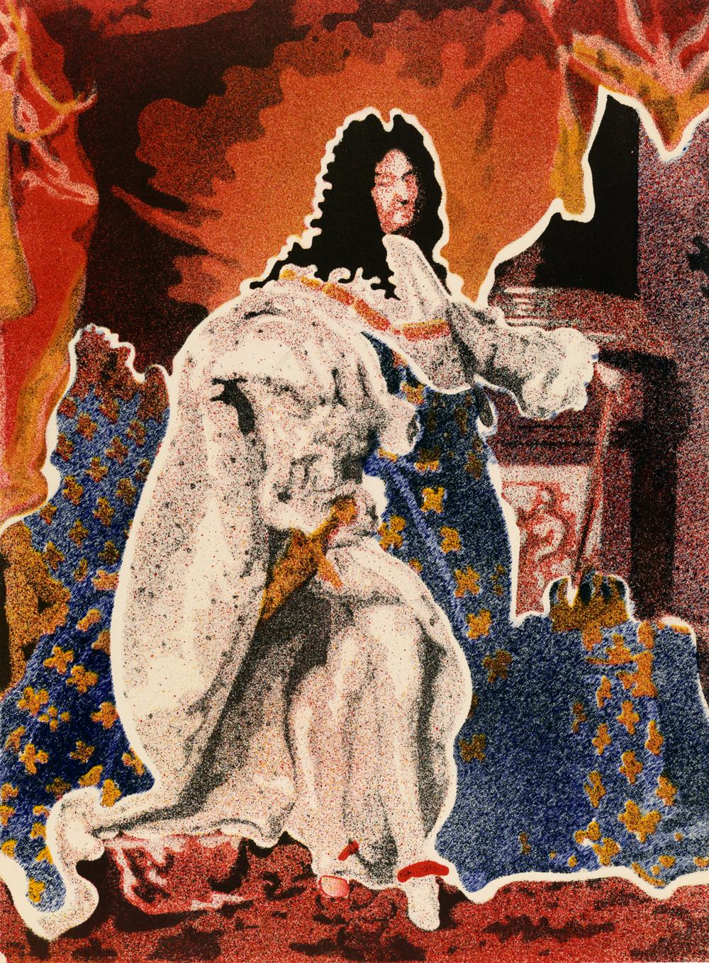 John Clem Clarke (United States, b. 1937), Louis XIV, 1969. Lithograph on paper. Gift of George M. Irwin 1995-9-2.4