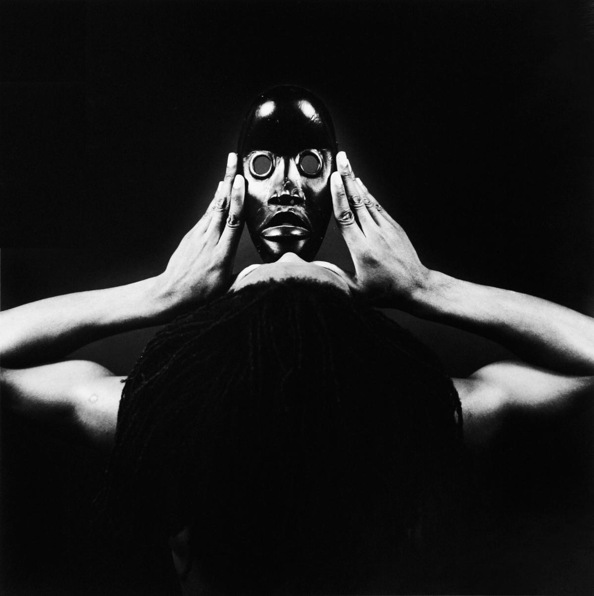 Rotimi Fani-Kayodé (Nigerian-British, 1955–1989), Dan Mask, 1989. Silver gelatin print, hand-printed, edition 3/10. Art Acquisitions Fund 2012-7-1