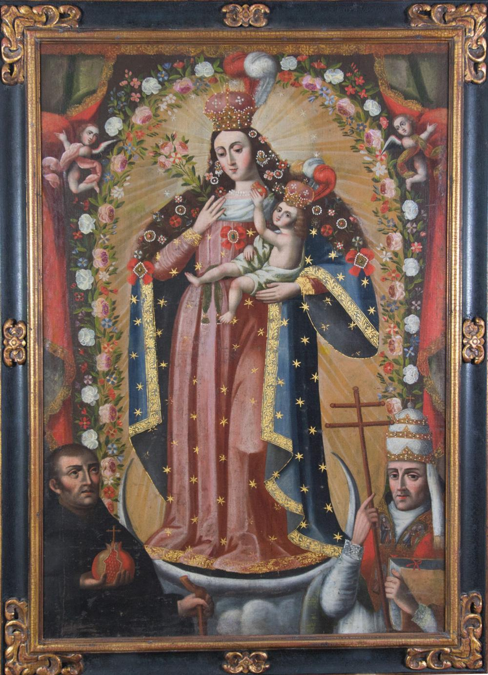 Cuzco School, Our Lady of the Remedies of La Paz, ca. 1750. Oil on canvas. Museum purchase through the Richard M. and Rosann Gelvin Noel Fund. 2018-1-1