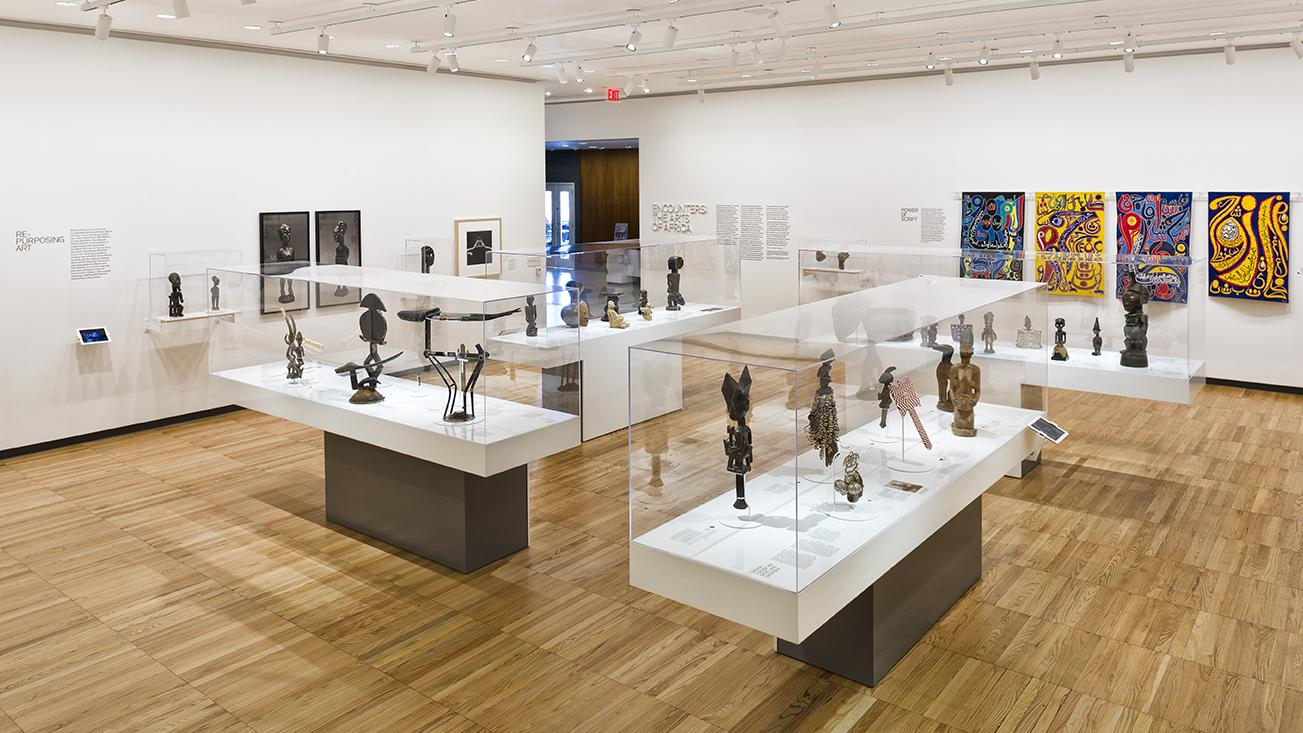 Image:  Encounters: The Arts of Africa. Krannert Art Museum, installation view, 2012. Photo by Chris Brown.