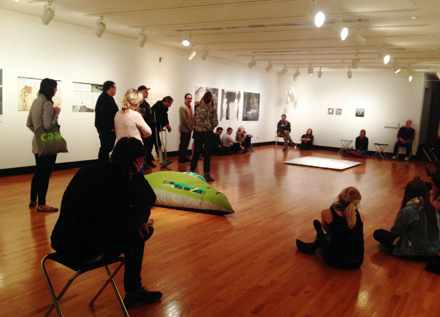 New Terrains: The Landscape Reviewed, installation and symposium at Krannert Art Museum, 2015.