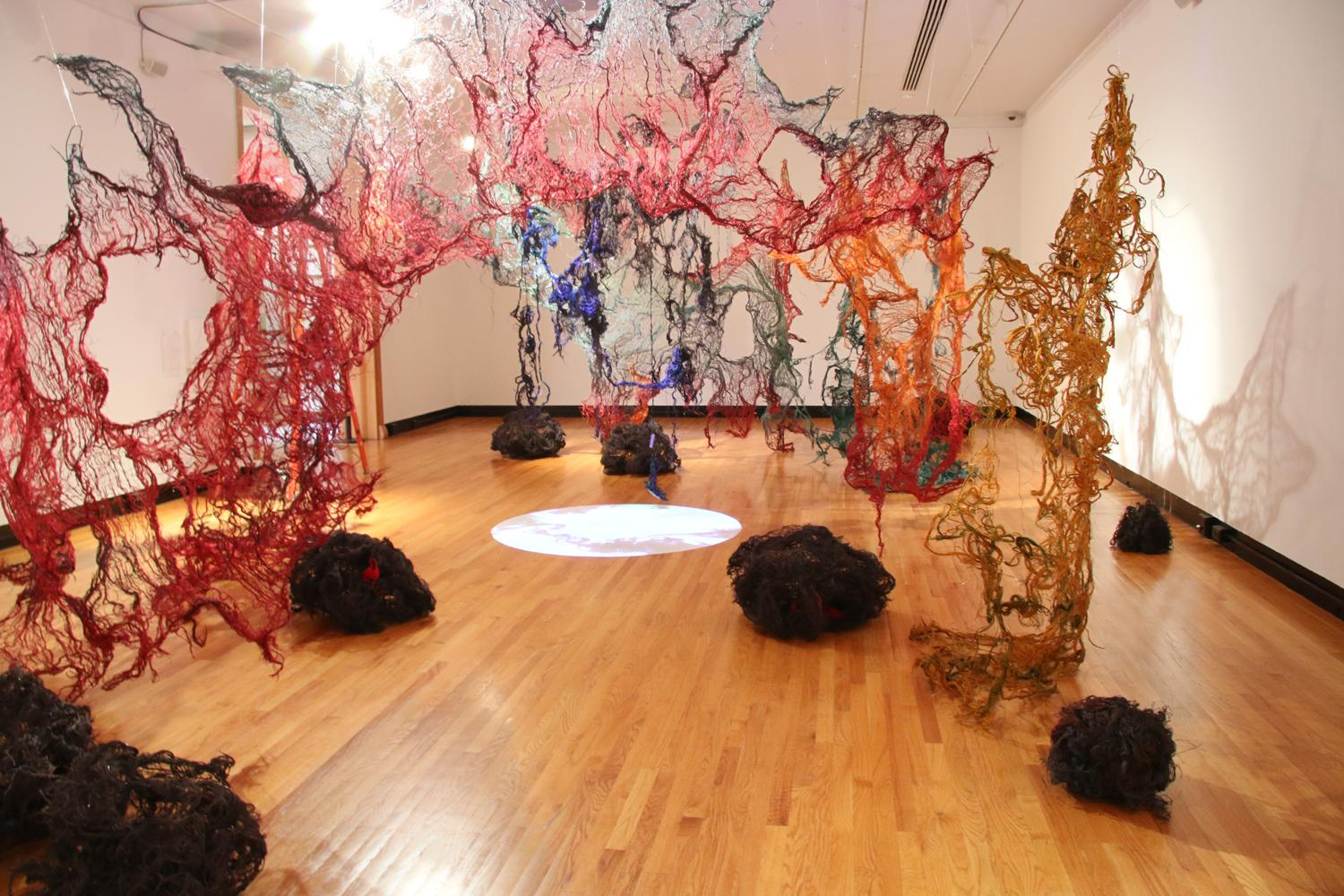 Nkata: An Installation by Nnenna Okore at Krannert Art Museum, Aug. 28 through Dec. 23, 2015 | Photo by Julia Nucci Kelly
