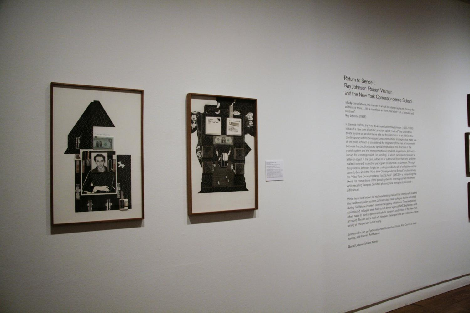 Return to Sender: Ray Johnson, Robert Warner, and the New York Correspondence School, installation view at Krannert Art Museum, 2013.
