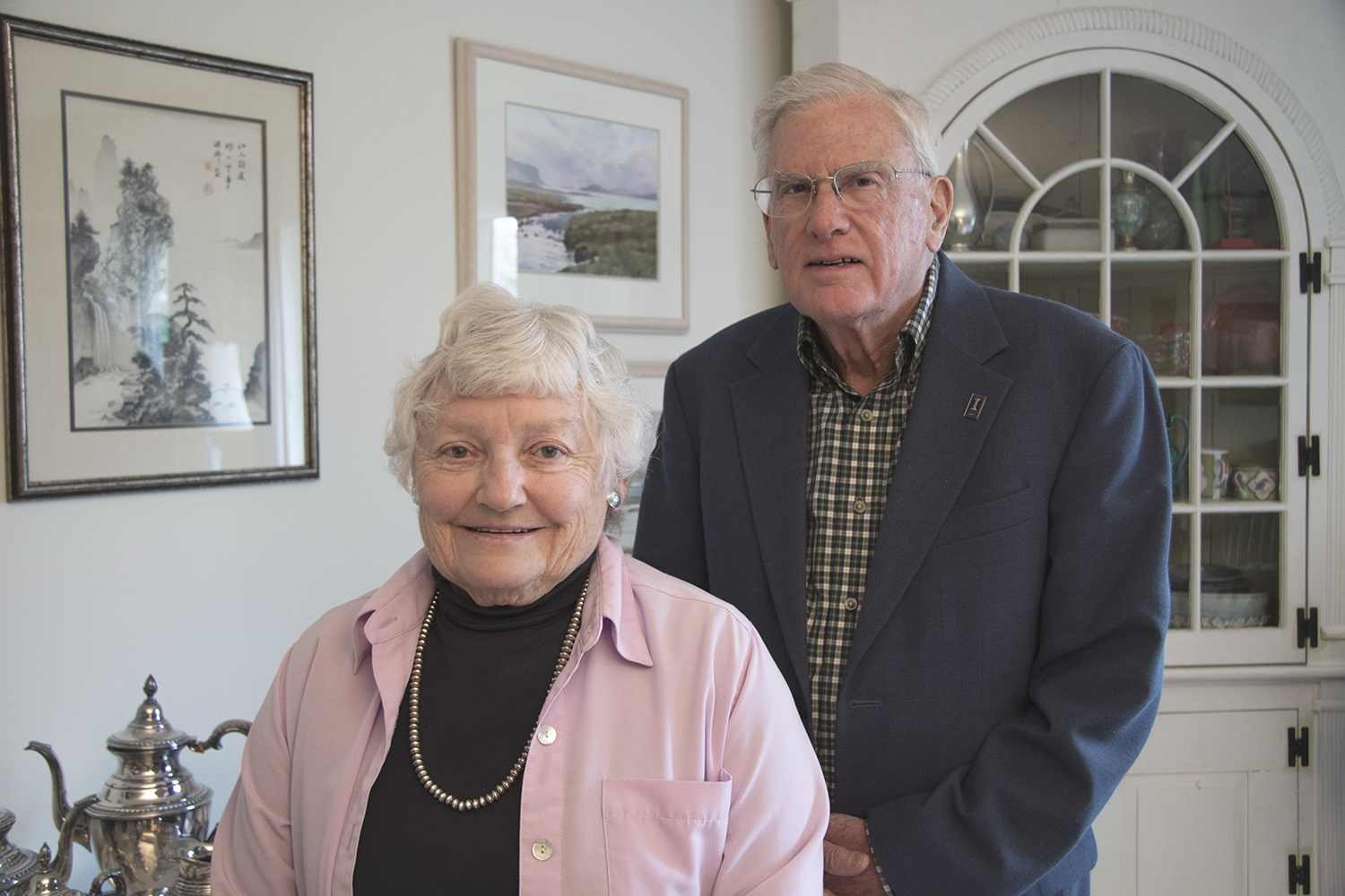 Joan and Peter Hood, 2019. Photo by Julia Nucci Kelly.