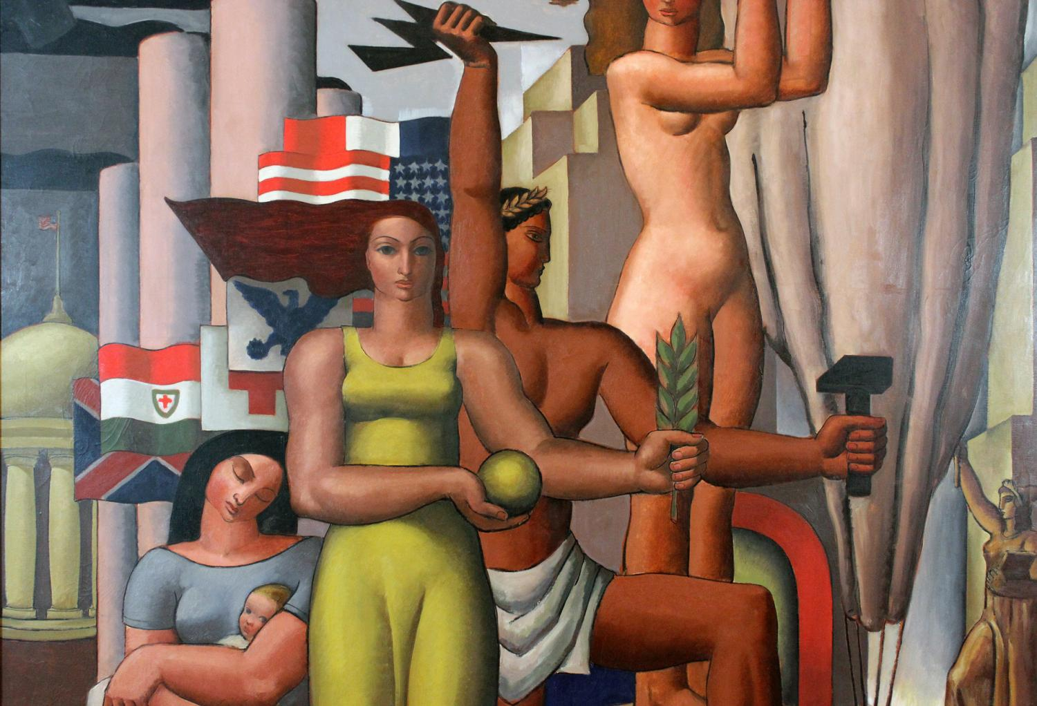 Edwin Boyd Johnson. Mural Painting (detail), 1934. Oil on canvas. Allocated by the U.S. Government, commissioned through the New Deal art projects, 1934-2-22. © Edwin Boyd Johnson