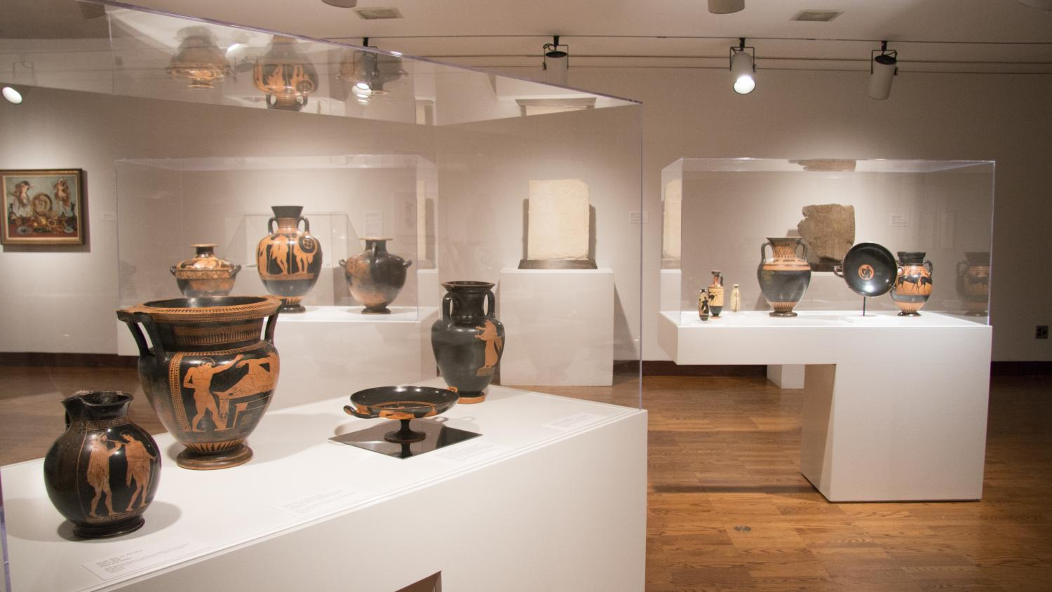 Ancient Mediterranean gallery at Krannert Art Museum, 2018.
