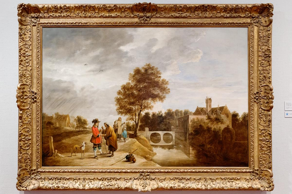 David Teniers II (Flanders, 1610–1690), The Artist with a Fortune Teller in a Landscape, ca. 1640–1650. Oil on canvas. Gift of Merle J. and Emily N. Trees  1948-1-2