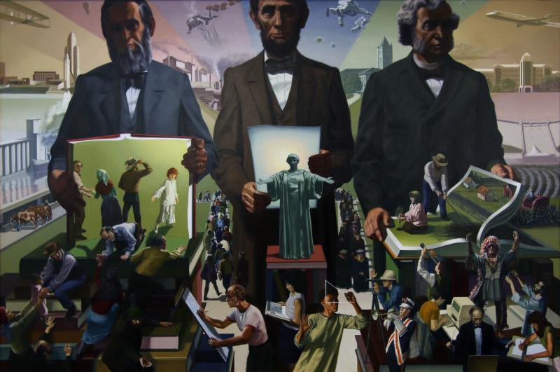 Billy Morrow Jackson, We The People: The Land-Grant College Heritage (detail), 1987. Museum Purchase through the John Needles Chester Fund 1987-19-1