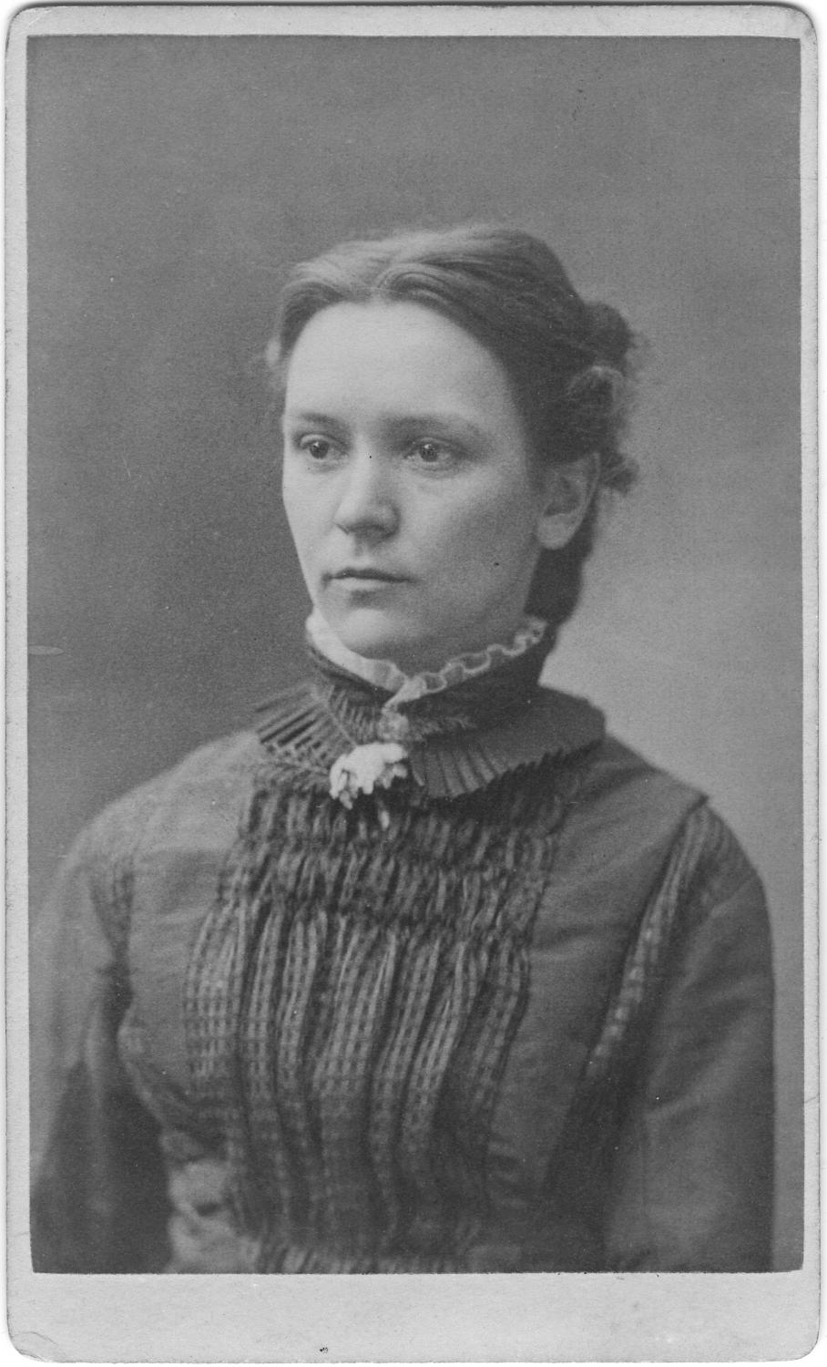 Mary Louisa Page,  ca. 1878. RS 26/4/1, fldr. 78. Courtesy of the University of Illinois Archives.