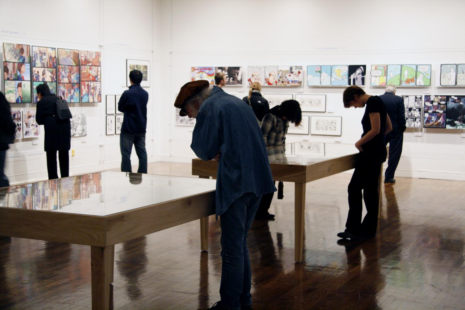 Out of Sequence: Underrepresented Voices in American Comics, installation at Krannert Art Museum, 2008.
