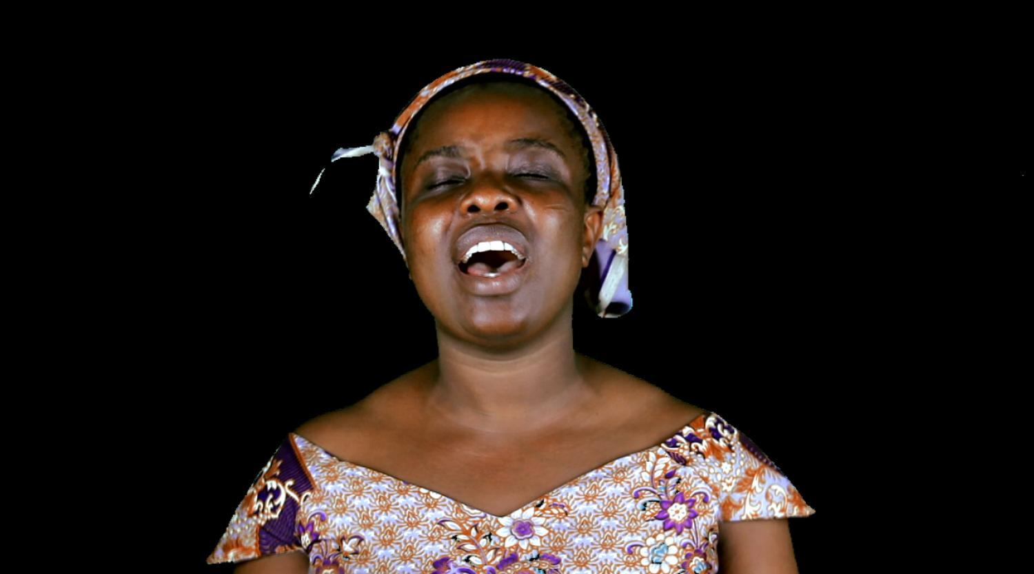 Zina Saro-Wiwa. Prayer Warrior, 2015. (video still)