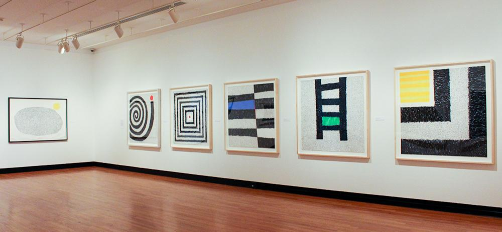 Auto-Graphics: Recent Drawings by Victor Ekpuk, installation at Krannert Art Museum, 2014. Photo by Julia Nucci Kelly