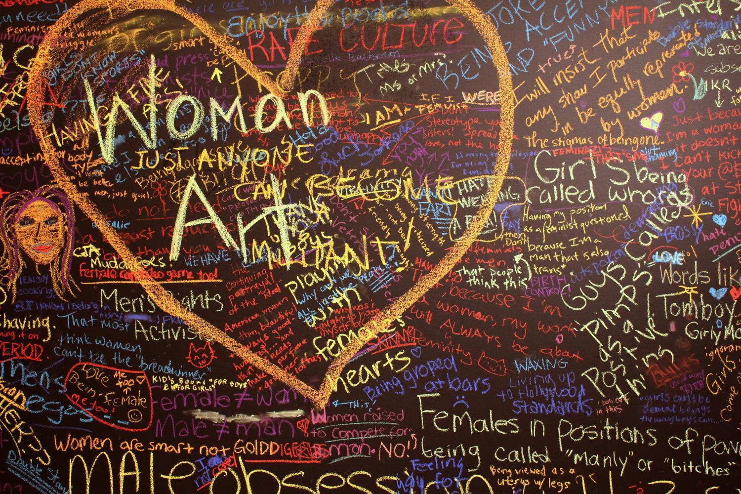 I Am a Feminist Because..., 2014. Interactive art installation at Krannert Art Museum