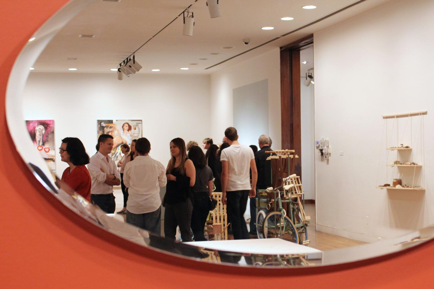 School of Art and Design Master of Fine Arts Exhibition, installation at Krannert Art Museum, 2014.