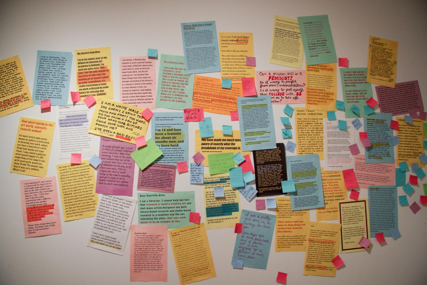 Not Ready to Make Nice: Guerrilla Girls in the Artworld and Beyond, installation at Krannert Art Museum, 2014.