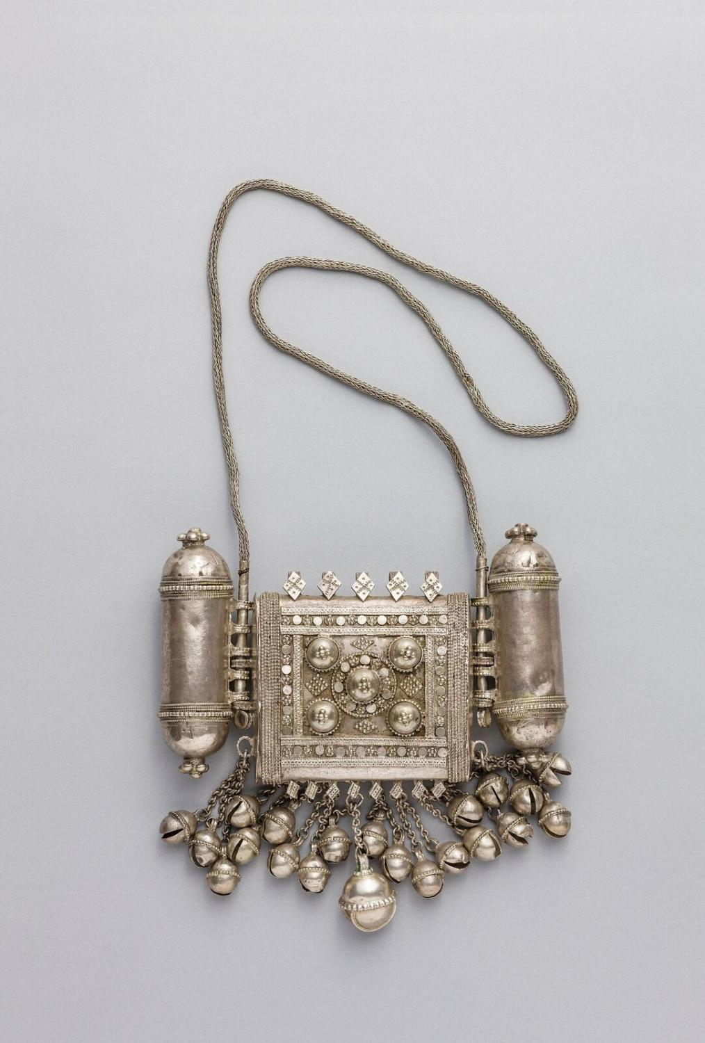 Kenya, Wasini Island, ca. 19th century. Amulet Case. Silver. Lamu Museum, National Museums of Kenya, no. 18
