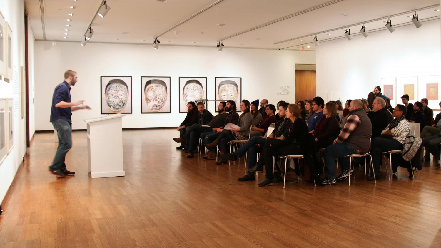 Voice Reading Series at Krannert Art Museum, 2015.