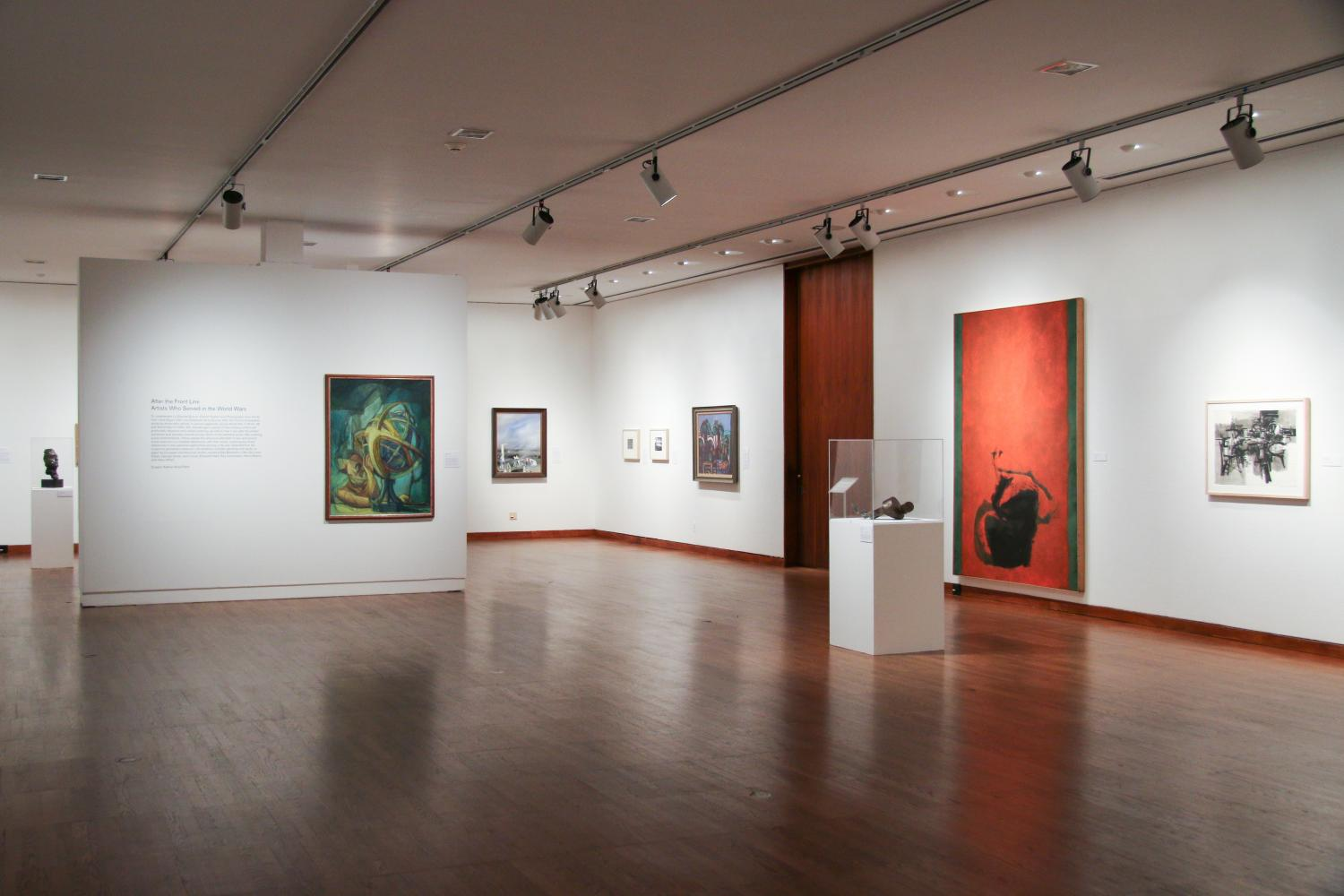 After the Front Line: Artists Who Served in the World Wars, installation view at Krannert Art Museum, 2014.