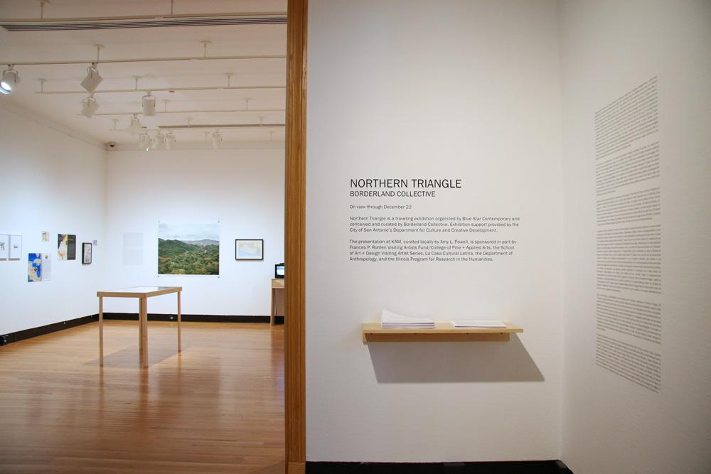 Borderland Collective: Northern Triangle, installation at Krannert Art Museum, 2016. Photo by Julia Nucci Kelly