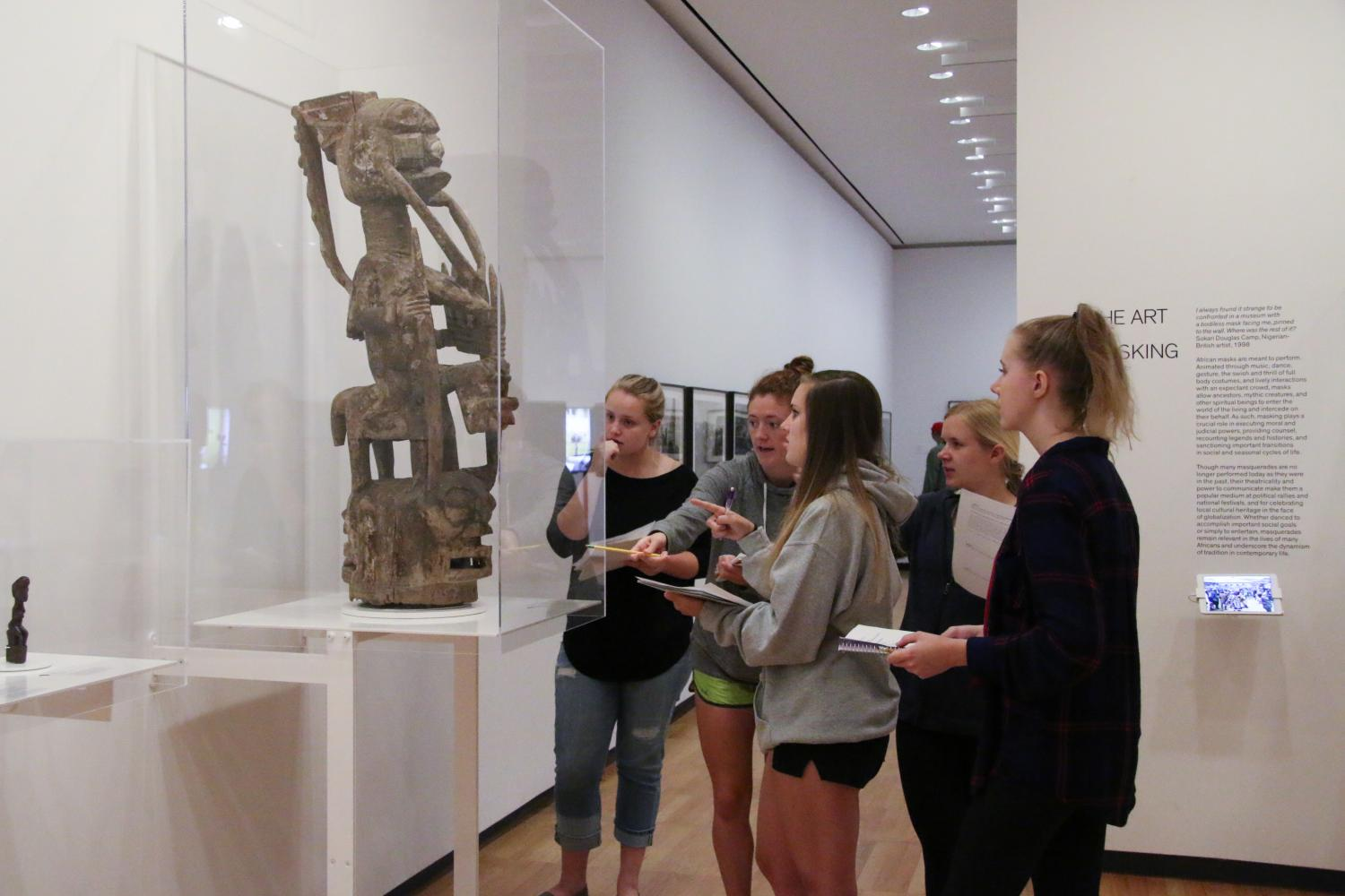Encounters: The Arts of Africa helps to broaden the experience of students in Art History 115: Art in a Global Context, 2017.